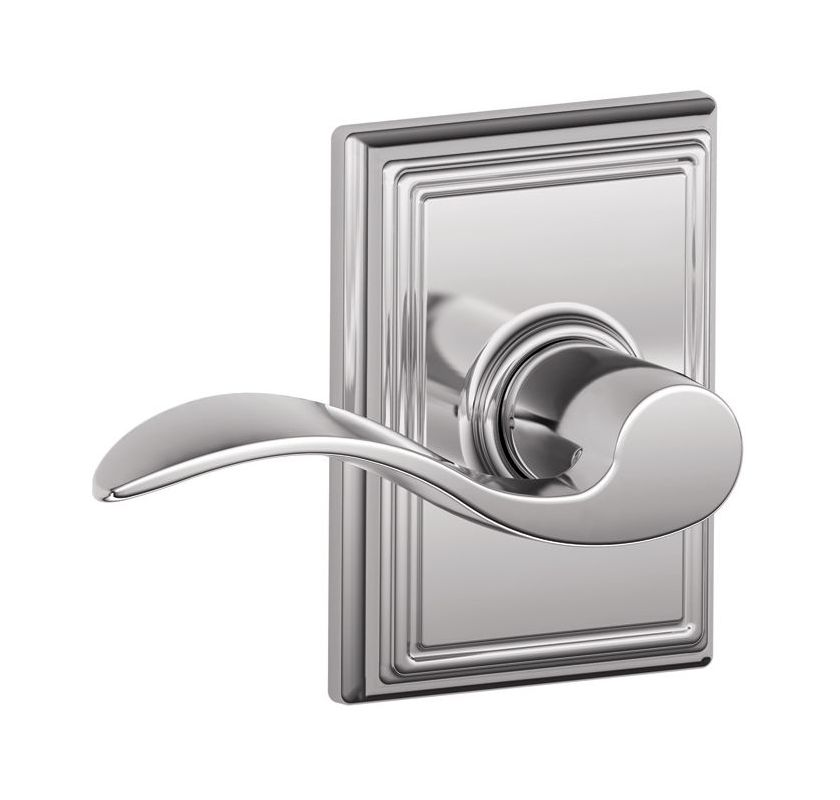 Schlage F10acc625add Polished Chrome Passage Accent Door