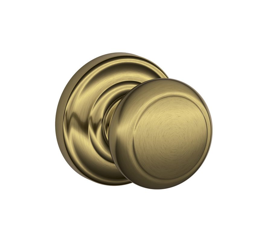 Schlage F10and609and Antique Brass Andover Passage Door