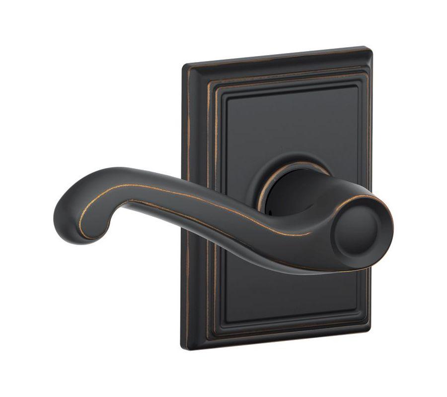 Schlage F10fla716add Aged Bronze Passage Flair Door