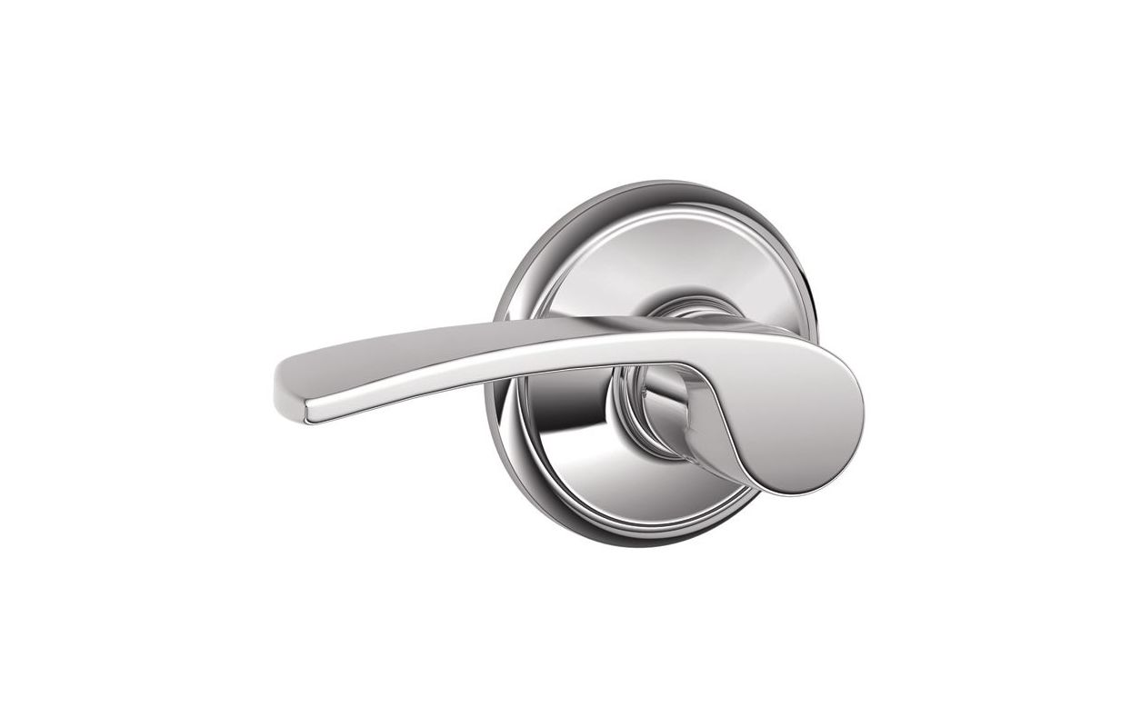 Schlage F10mer625 Polished Chrome Merano Passage Door