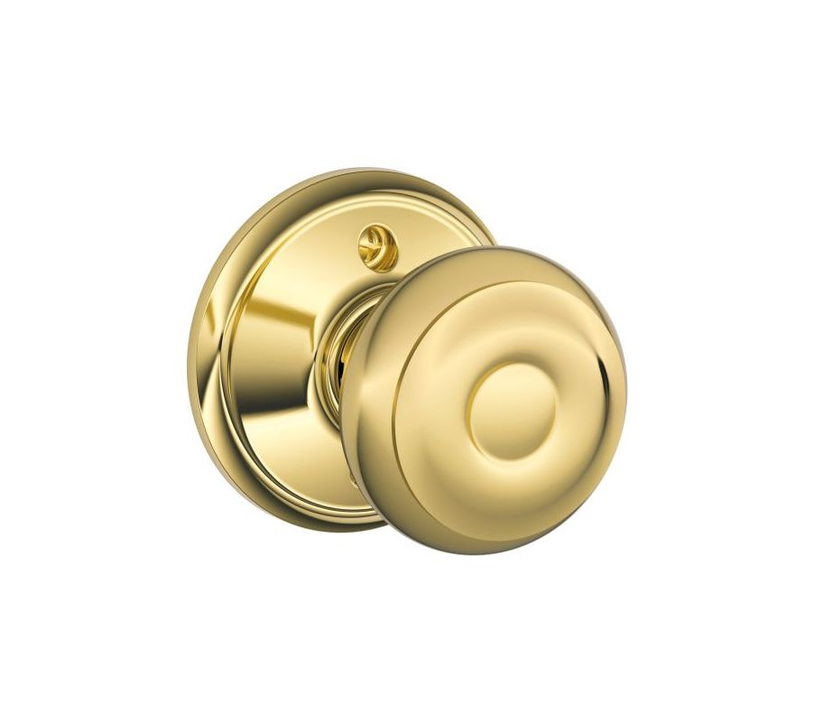 Schlage F170geo605 Polished Brass Georgian Single Dummy