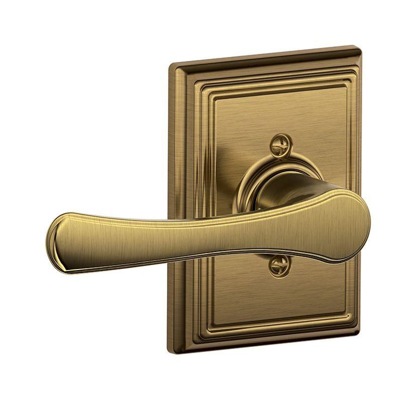 Schlage F170vla609add Antique Brass Avila Single Dummy