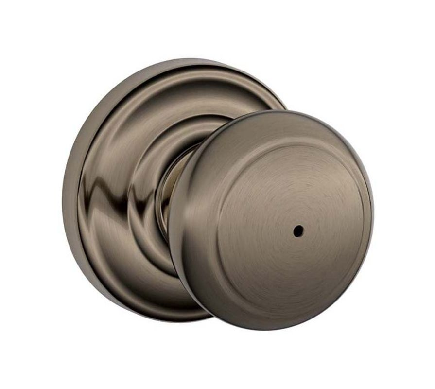 Schlage F40and620and Antique Pewter Andover Privacy Door