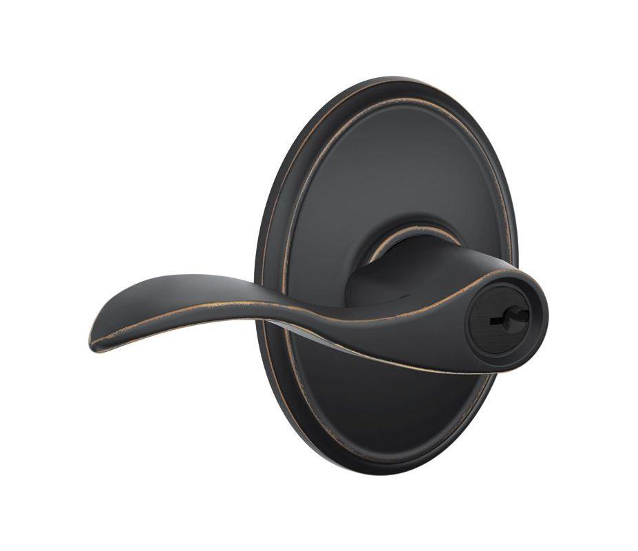 Schlage F51aacc716wkf Aged Bronze Accent Single Cylinder