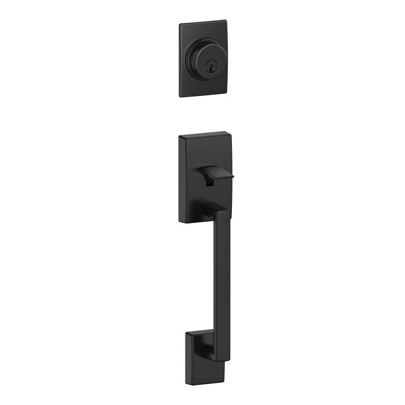Schlage F58cen622 Matte Black Century Single Cylinder