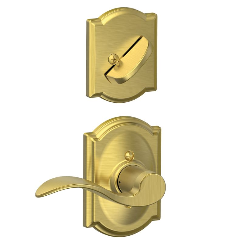 Schlage F59acc608camrh Satin Brass Accent Right Handed
