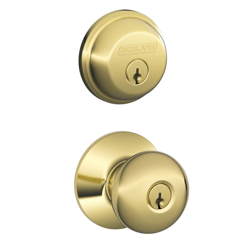 Schlage Fb50ply605 Polished Brass Plymouth Keyed Entry
