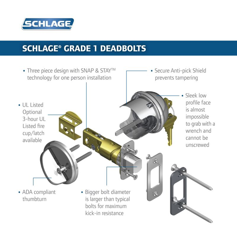 Schlage B60 Deadbolt Build Com