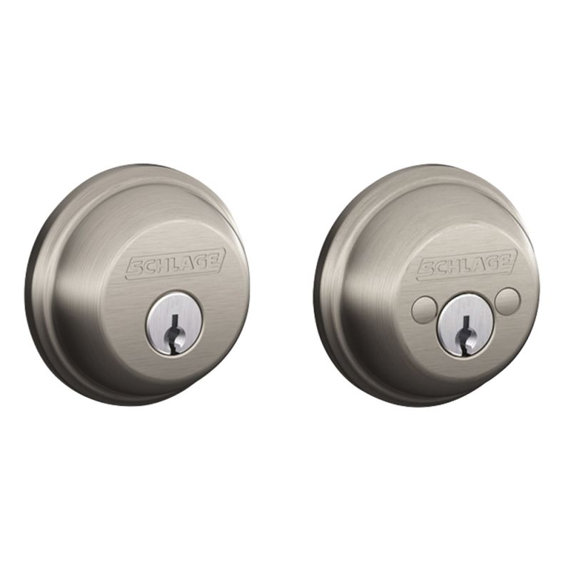 Schlage B62619 Satin Nickel Double Cylinder Grade 1