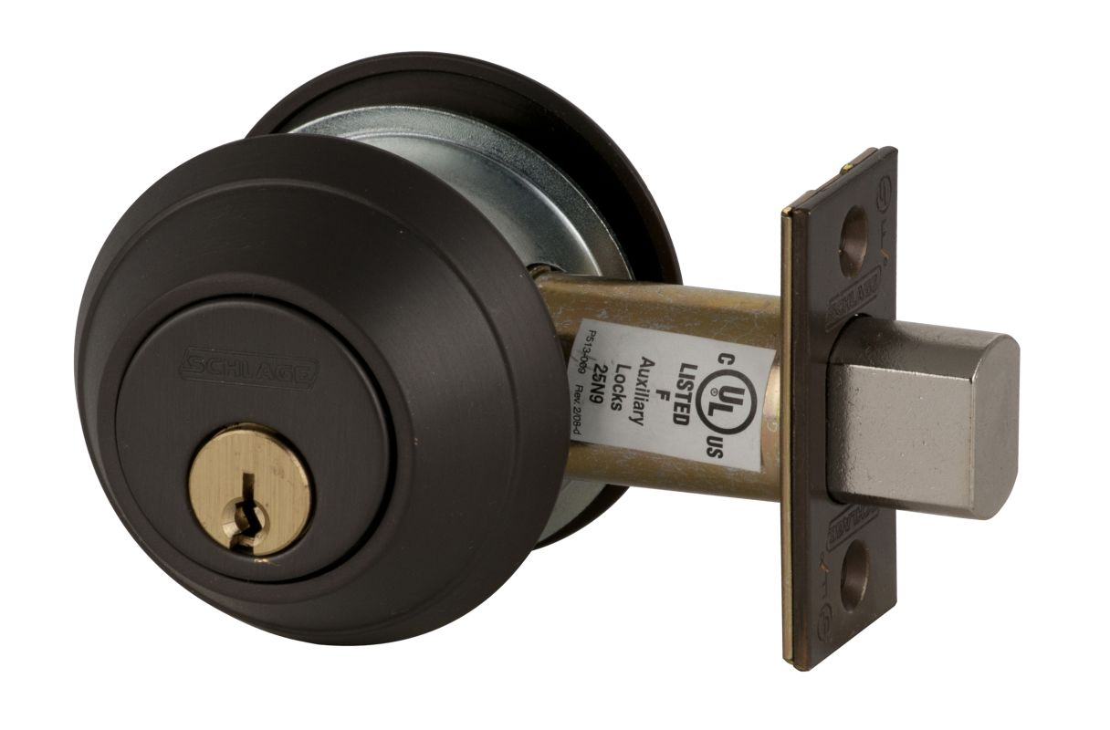 Schlage B662613 Oil Rubbed Bronze Double Cylinder Deadbolt