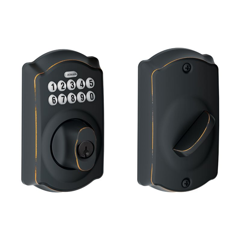 Schlage Be365cam716 Aged Bronze Camelot Electronic Keypad