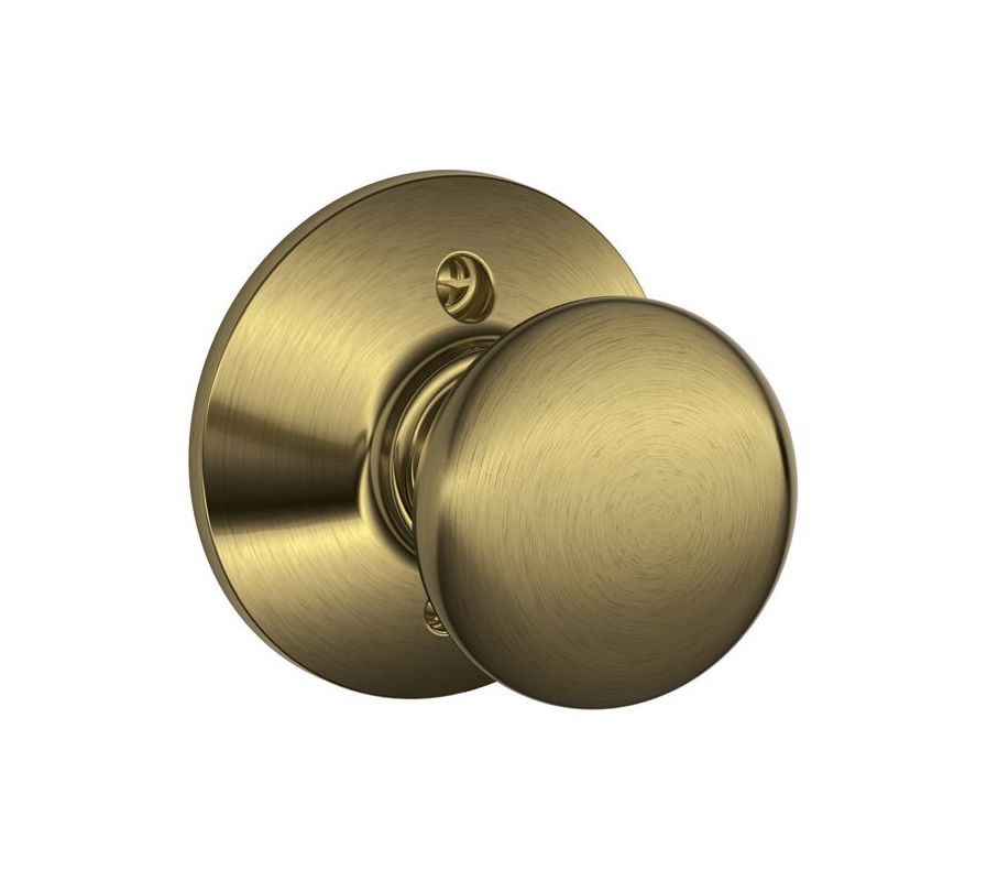 Schlage F170ply609 Antique Brass Plymouth Single Dummy