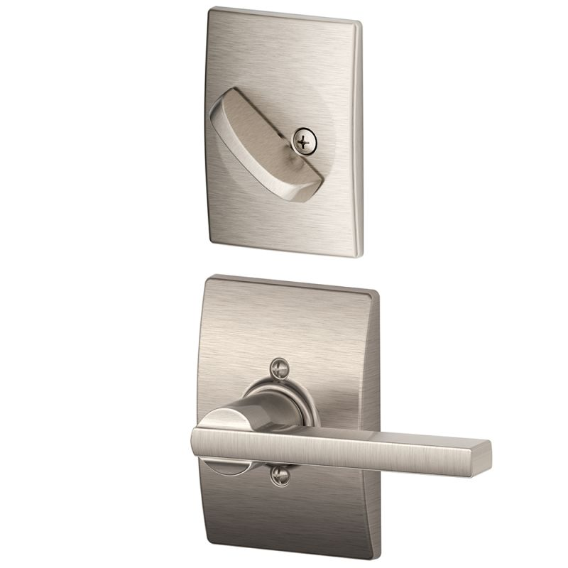 Schlage F59lat619cen Satin Nickel Latitude Single Cylinder
