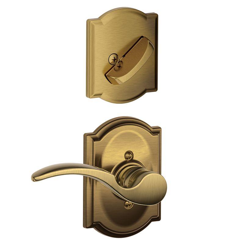 Schlage F59sta609camrh Antique Brass St Annes Right
