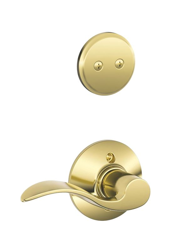 Schlage F94acc605rh Polished Brass Accent Right Handed