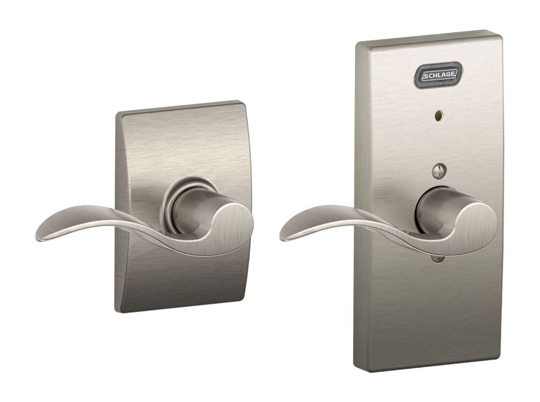 Schlage Fe10acc619cen Satin Nickel Century Built In Alarm