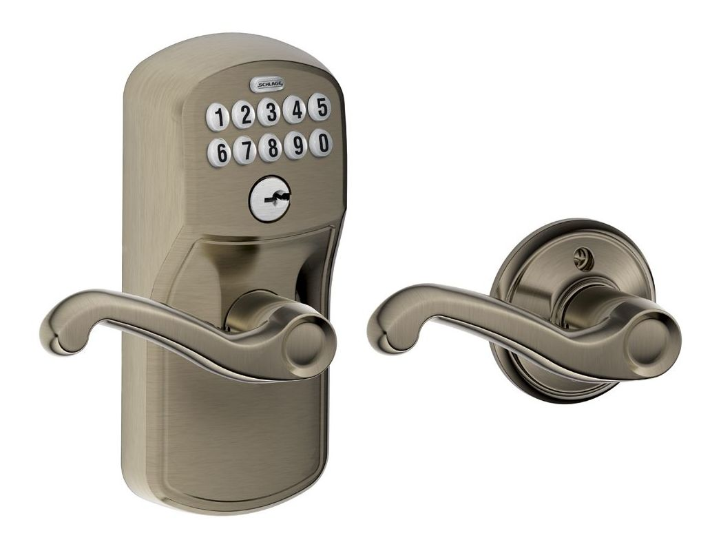 Schlage Fe575ply620fla Antique Pewter Plymouth Keypad