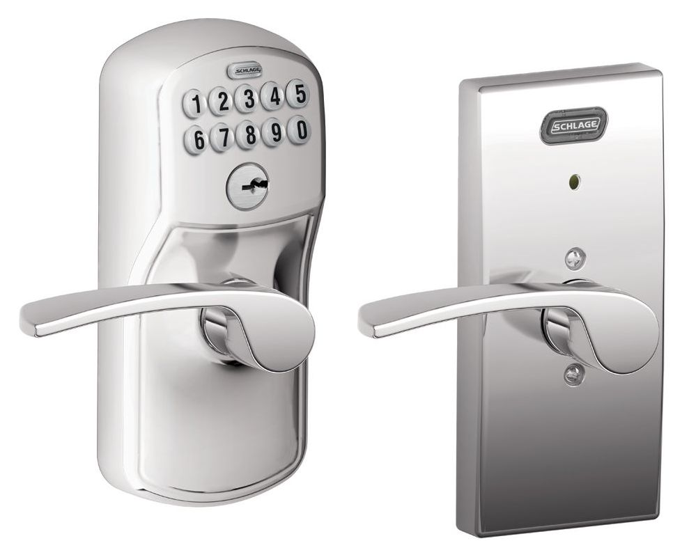 schlage fe576cen625mer polished chrome century built in alarm electronic keypad single cylinder. Black Bedroom Furniture Sets. Home Design Ideas
