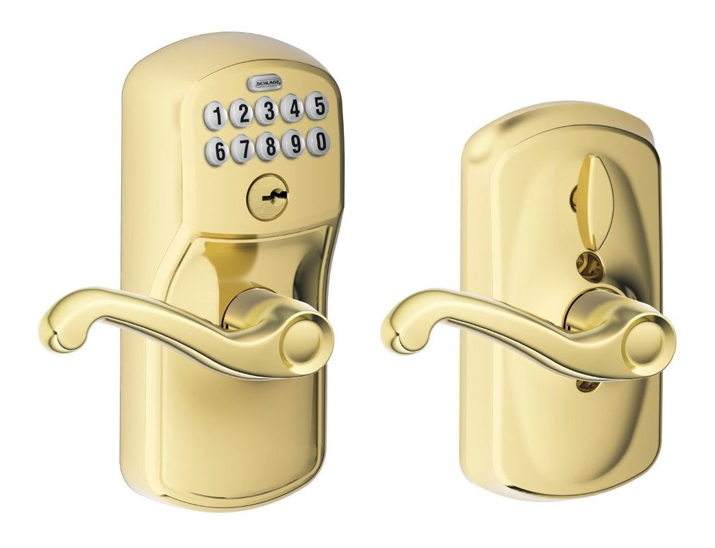 Schlage Fe595ply505fla Lifetime Polished Brass Flex Lock