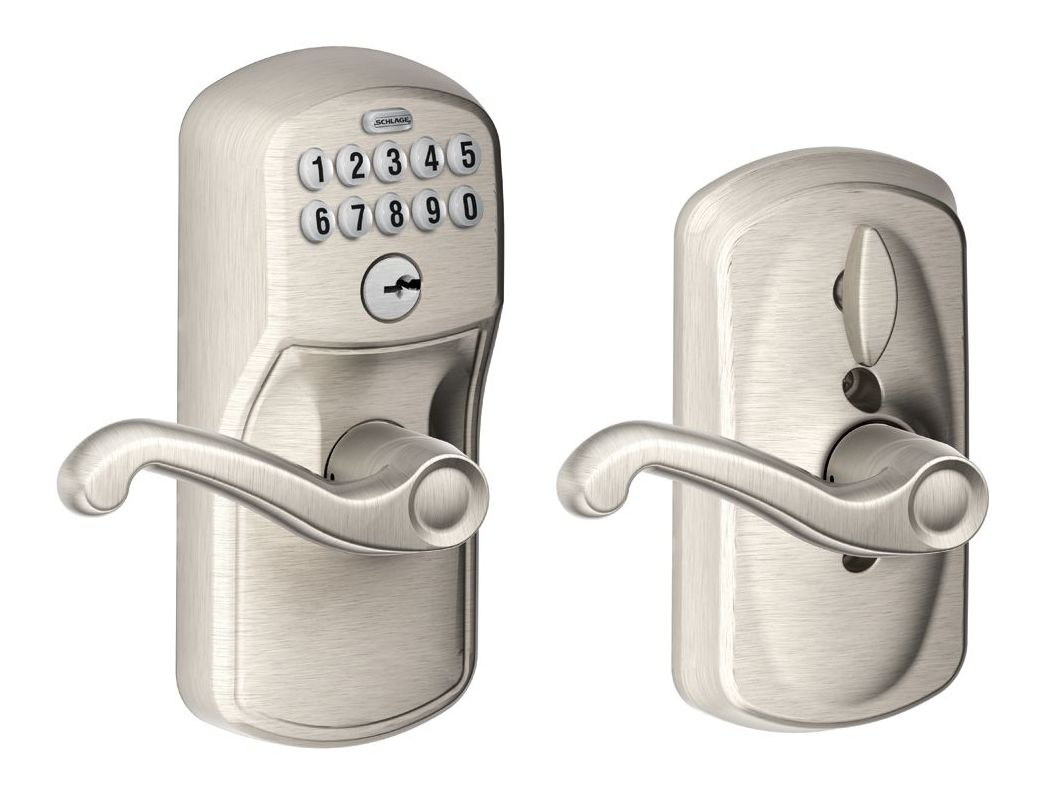 Schlage Fe595ply619fla Satin Nickel Flex Lock Keypad Entry