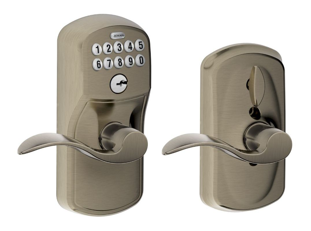 Schlage Fe595ply620acc Antique Pewter Keypad Entry Lock