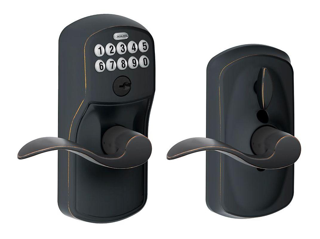 Schlage Fe595ply716acc Aged Bronze Keypad Entry Lock