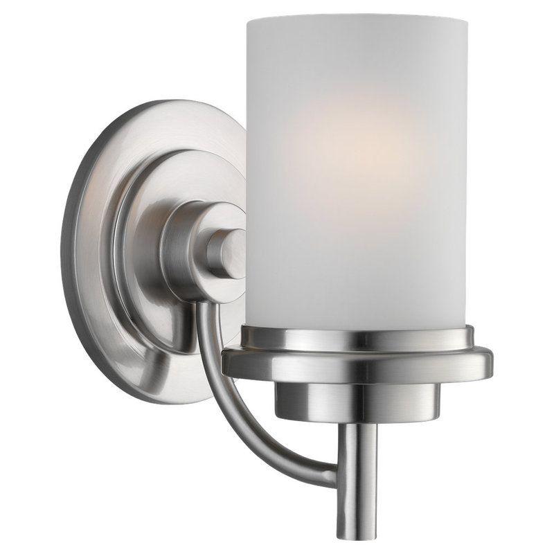 Sea Gull Lighting 44660 962 Brushed Nickel Winnetka 1 Light Bathroom Sconce