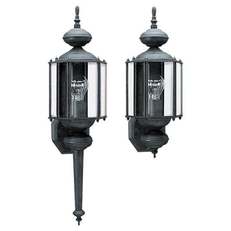Black Led Solar Powered 5 Ft Traditional Garden Lamp Post: Sea Gull Lighting 8510-12 Black Classico 1 Light Outdoor