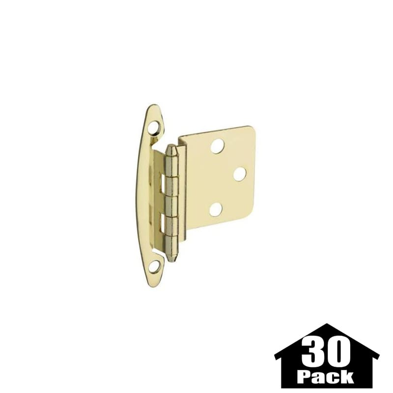Stanley Home Designs BB8197BRS 30PACK Brass Inch Non Spring Cabinet Hing