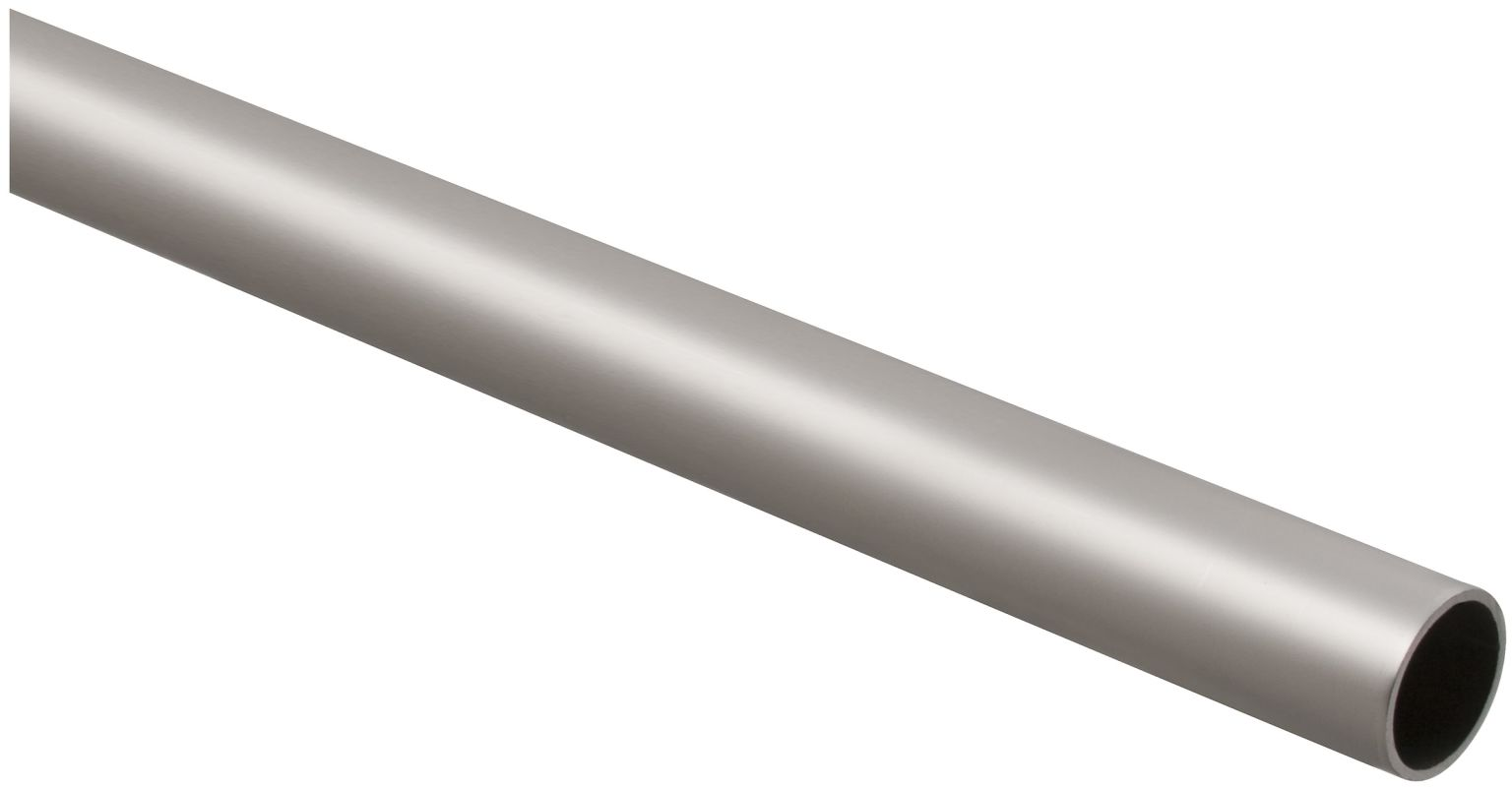 stanley home designs bb8182sn6 satin nickel 6 foot long closet rod