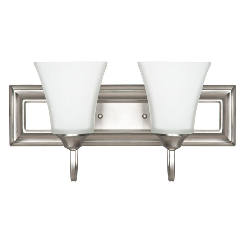 Sunset Lighting F3682-53 Satin Nickel 2 Light 200 Watt Bathroom Vanity Light - LightingDirect.com