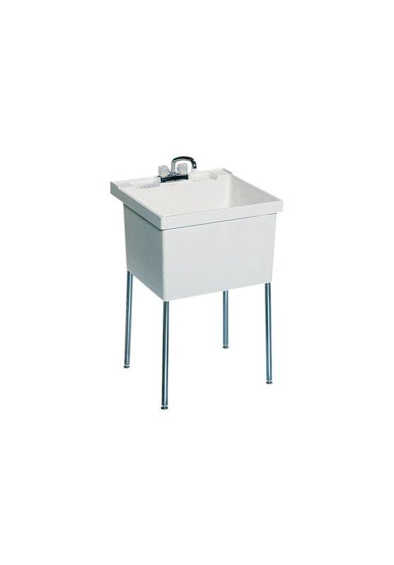 Swanstone ST-1F-6PK White Veritek Single Floor Standing Laundry Tub 6 ...