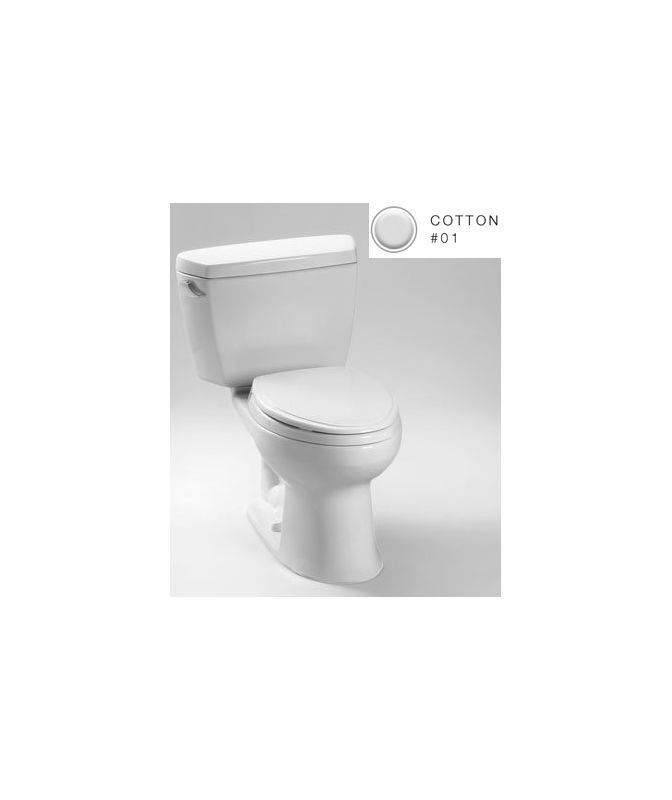 Franke Kitchen Sink Accessories : Toto CST744SG#01 Cotton Drake Two Piece Elongated 1.6 GPF Toilet with ...