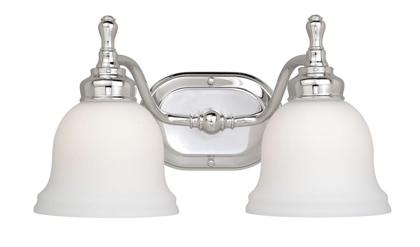 Kichler 628 Chrome Bath Vanity 48 Wide 8 Bulb Bathroom: Vaxcel Lighting CL-VLD002CH Chrome Cologne 2 Light