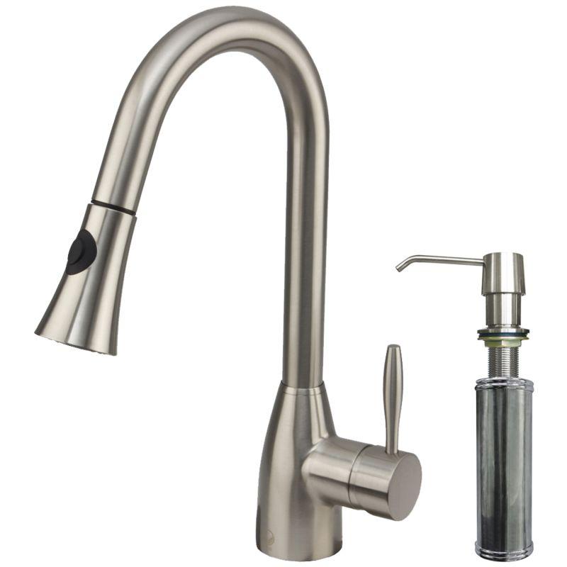 Vigo Stainless Steel Single Handle Pullout Kitchen Faucet