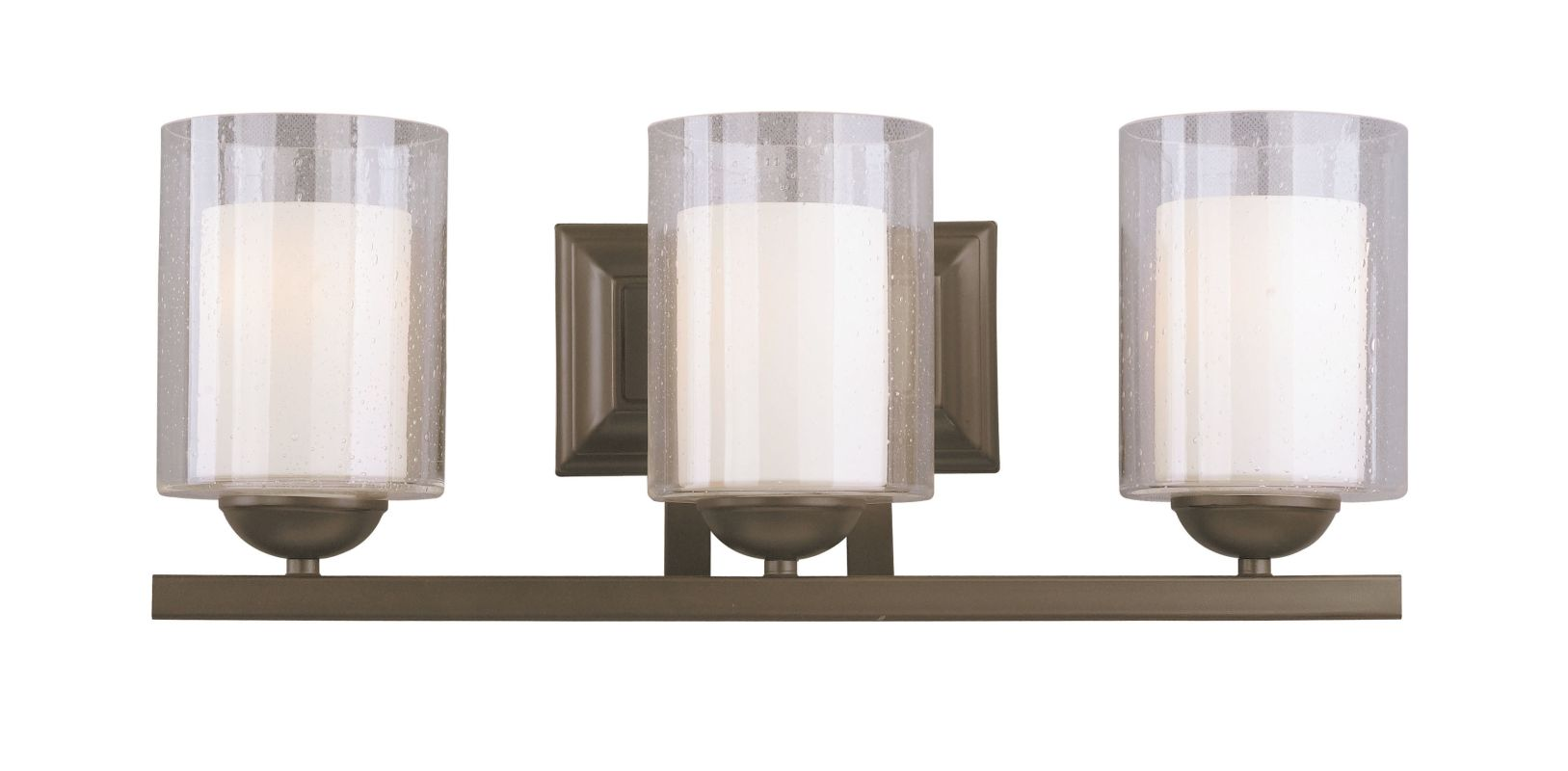 woodbridge lighting 53113 brz bronze cosmo 3 light vanity light. Black Bedroom Furniture Sets. Home Design Ideas