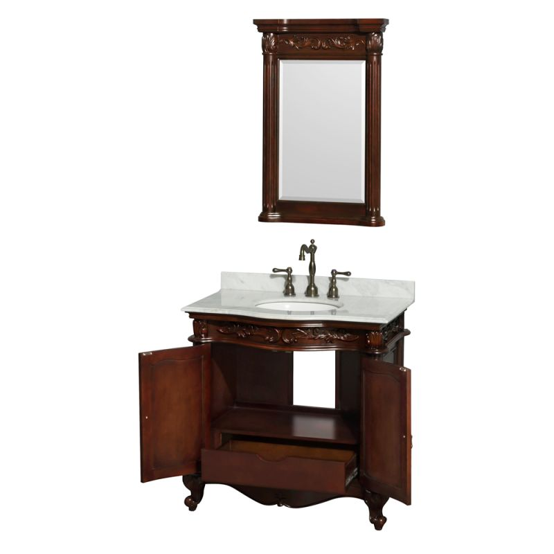 Cherry 36 1 4 quot mdf vanity cabinet only from the edinburgh collection