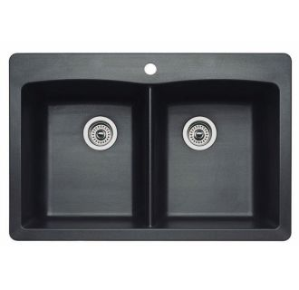 Blanco 440220 Anthracite Diamond Equal Double Basin
