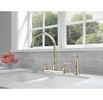 Delta 2497lf Chrome Cassidy Kitchen Faucet With Side Spray