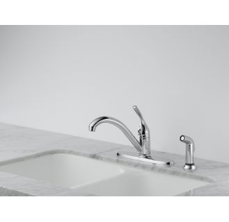 Delta 400 Dst Chrome Classic Kitchen Faucet With Side