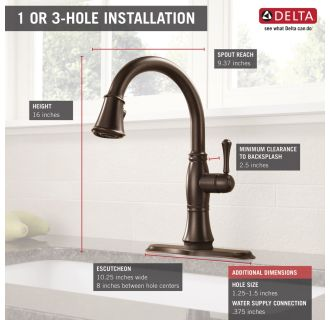 Delta 9197t Rb Dst Venetian Bronze Cassidy Pull Down