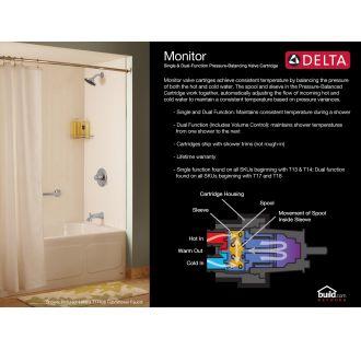 Delta T14051 Pn Brilliance Polished Nickel Dryden Monitor