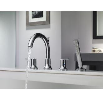 Delta T4759 Chrome Trinsic Roman Tub Faucet Trim With Hand