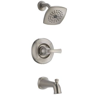 Delta 144962 Ss Stainless Steel Mandara Tub And Shower Trim Package With Monitor And Touch Clean