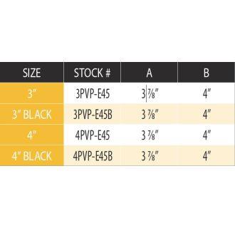 Duravent 3pvp E45b Black 3 Quot Inner Diameter Pelletvent