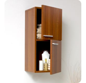 Fresca Fst8091tk Teak 27 Quot Wall Mounted Bathroom Linen