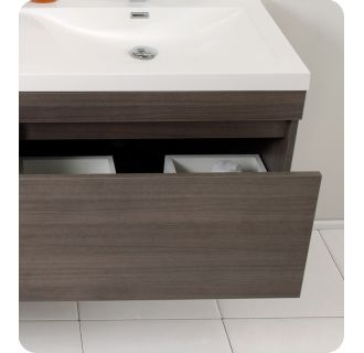 Fvnbw Black Largo   Wall Mounted Vanity Set With Mdf Cabinet