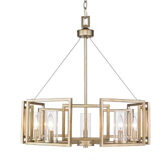 6068 5 Wg White Gold Marco  Tier Chandelier With Clear Glass