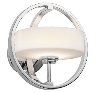 Kichler Ch Chrome One Light Up Light Wall Sconce From The Olsay Collection Lightingdirect Com