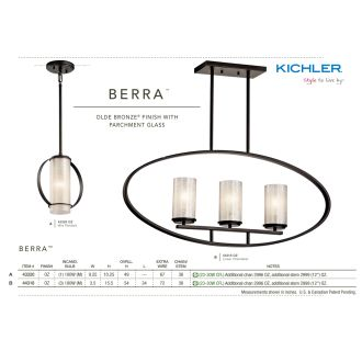Kichler 43320OZ Olde Bronze Berra Single Bulb Indoor